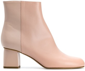 RED Valentino RED (V) two-tone ankle boots
