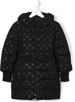 MonnaLisa polka dot padded coat