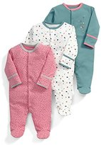 Mamas and Papas Baby Girls' 3Pk Confetti Aio Footies,18-24 Months pack of 3