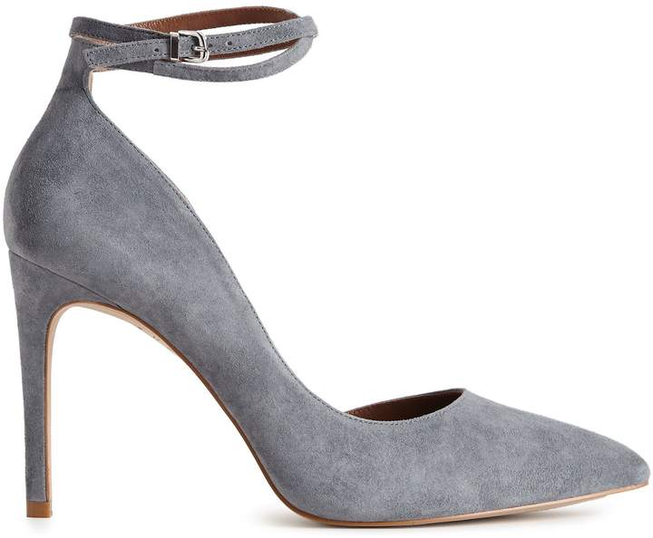 Reiss LYA SUEDE ANKLE STRAP SHOES Blue