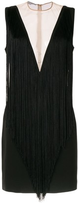 Stella McCartney deep-V fringed mini-dress