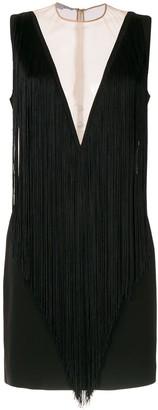 Stella McCartney deep-V fringed mini-dress