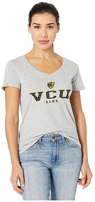 Champion College Virginia Commonwealth Rams University V-Neck Tee (Oxford Grey) Women's T Shirt