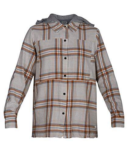 Hurley Women's Apparel Women's Plaid Collared Long Sleeve Button Down Shirt