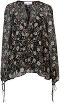 Robert Rodriguez floral print sheer blouse
