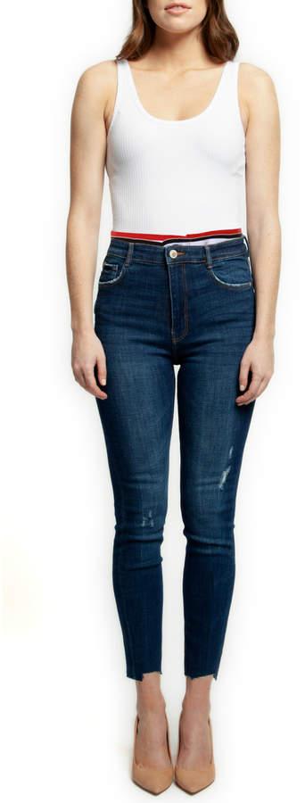 Dex Skinny Jean w Sporty Elastic Waistband