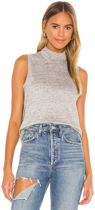 Chaser Cropped Mock Neck Muscle Tank