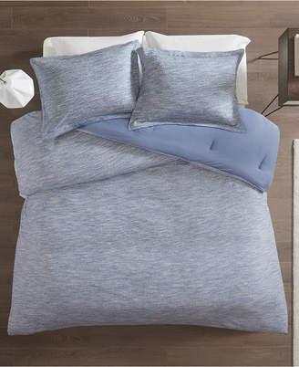 Melange Home Urban Habitat Space Dyed King/Cal King 3 Piece Cotton Jersey Knit Comforter Set Bedding