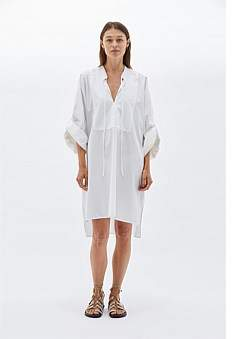 Bassike Cotton Relaxed Shirt Dress