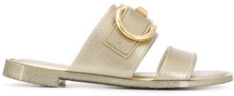 Salvatore Ferragamo glitter Gancini Slider sandals