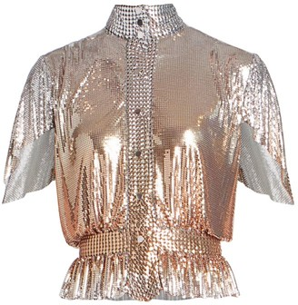 Paco Rabanne Ombre Chainmail Embellished Top