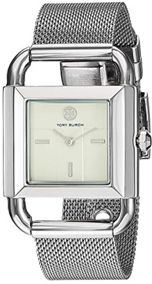 Tory Burch Phipps Mesh Watch (Silver - TBW7252) Watches