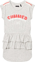 Ikks Grey Jersey Summer Time Applique Ruffle Dress