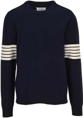 Maison Margiela Striped Sleeve Sweater