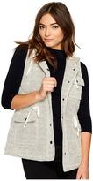 BB Dakota Regas Herringbone French Terry Quilted Vest Women's Vest