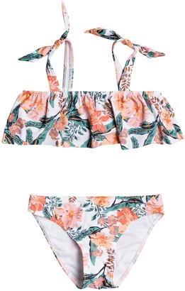 Roxy Kids' Flounce Two-Piece Swimsuit