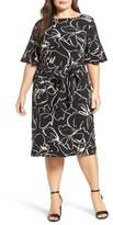 Gabby Skye Plus Size Women's Print Shift Dress