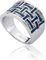 Riccova Country Chic 14k Gold-Plated White Woven Ring/ White Metal Size 6