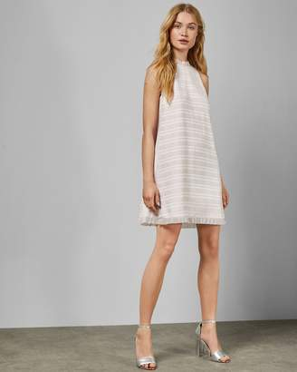 Ted Baker Pleated Ruffle Detail Sleeveless Dress