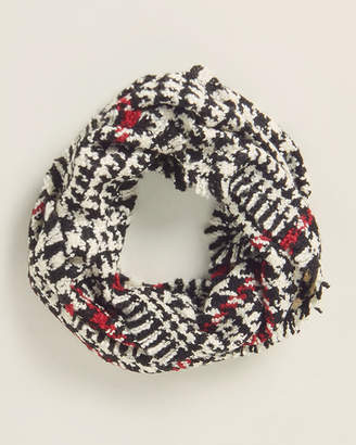 Fraas Retro Houndstooth Infinity Scarf