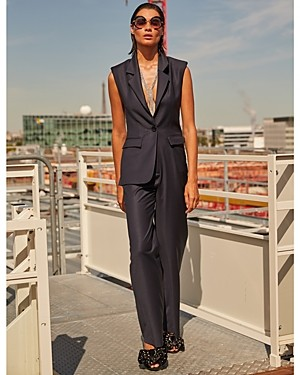 Carolina Ritzler Notch Lapel Jumpsuit