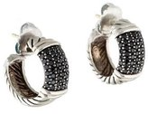 David Yurman Black Diamond Cable Hoop Earrings