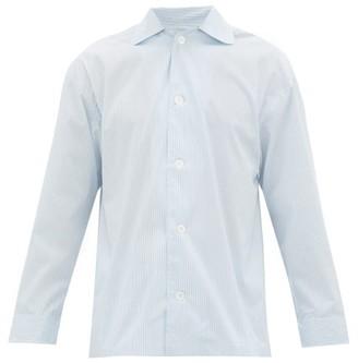 E. Tautz Hairline-striped Cotton-poplin Pyjama Shirt - Blue White