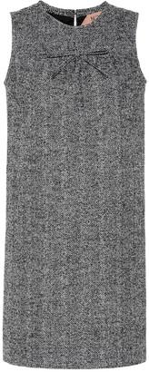 N°21 Herringbone wool-blend minidress