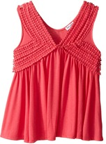 Splendid Littles V-Neck Tank Top with Lace Trim Girl's Sleeveless