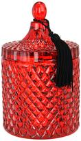 D.L. & Co. Cranberry Delight Mercury Red Diamond Jar Candle (15.5OZ)
