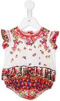 Dolce & Gabbana Mambo print body - kids - Cotton - 6-9 mth