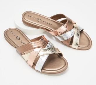 Katy Perry Cross-Strap Slide Sandals - The Lindita