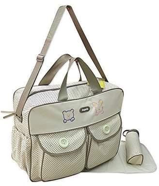 BEIGE XXL 3 Piece Baby Nappy Changing Bag Colour Tote Bag Diaper Bag Travel Multiple Colours