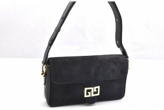 Gucci Navy Suede Handbags