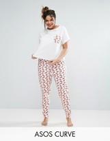Asos Kiss Me Tee & Legging Pajama Set