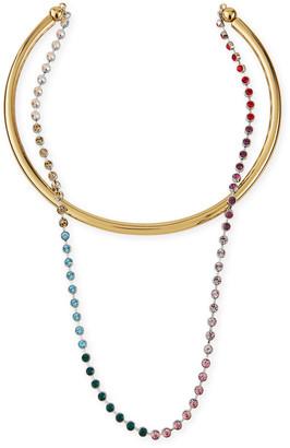 DEMARSON Talitha Convertible Necklace, Rainbow