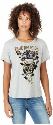 True Religion Women's Triangle Rose T-Shirt