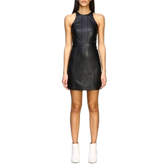 Armani Collezioni Armani Exchange Dress Armani Exchange Short Dress In Synthetic Leather