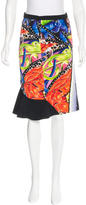 Peter Pilotto Printed Knee-Length Skirt