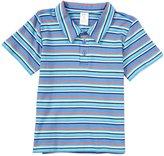 Zutano Multi Stripe Polo (Toddler) - Periwinkle-4T