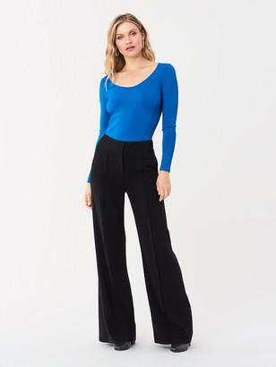 Diane von Furstenberg Akira Stretch Milano Long-Sleeve Top