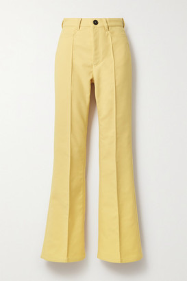 Meryll Rogge Twill Flared Pants - Yellow