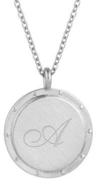brook & york Silver Plated Quinn Initial Pendant Necklace