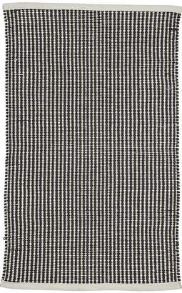Bloomingville - Striped Cotton Rug - Black/Natural - 90x60cm