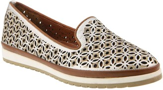 Spring Step Leather Slip-On Loafers - Tulisa