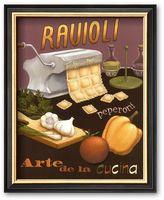 "Art.com Ravioli"" Framed Art Print by Daphne Brissonnet"