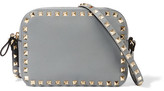 Valentino The Rockstud Textured-leather Shoulder Bag - Gray