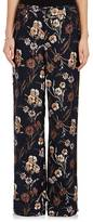 Derek Lam 10 Crosby Women's Floral Textured Silk-Blend Wide-Leg Pants