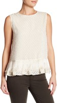 Max Studio Sleeveless Fringe Blouse