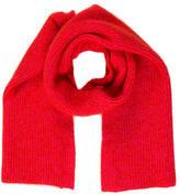 Celine Red Knit Scarf